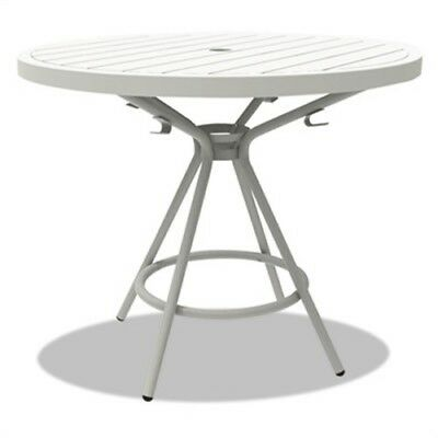 "CoGo Tables, Steel, Round, 30"" Diameter x 29 1/2"" High, White"