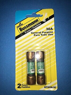 Cooper Bussmann 250V 30A Fuse  BP/NON-30 New In Original Package