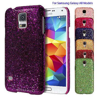Chrome Sparkle Glitter Bling Back Case Cover For Samsung Galaxy All Models