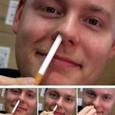CIGARETTE UP inTO THE NOSE DISAPPEAR MAGIC TRICK CLOSE-UP STAGE MAGIC SEE VIDEO