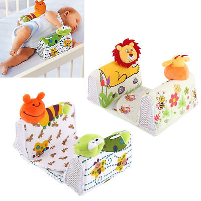 New Born Baby infant Anti roll Pillow Sleep Positioner prevent flat head Us Base