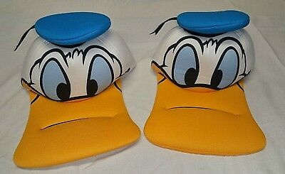 (2) Walt Disney Parks DONALD DUCK Face BIG Foam Bill Baseball Hat Cap  Disneyland 55c3e05c1ab7