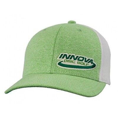 (Heather Green) - Innova Logo Adjustable Mesh Disc Golf Hat. Shipping Included