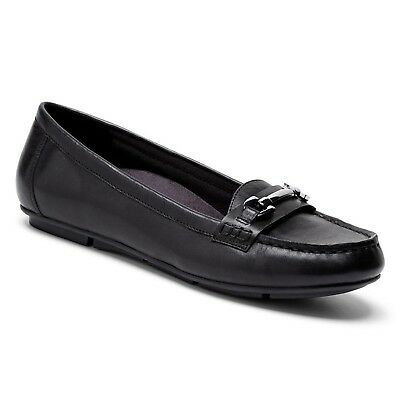 (6.5 B(M) US, Black) - Vionic with Orthaheel Technology Women's Kenya Loafer