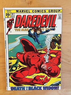 Daredevil #81 (Marvel 1971) Vf+ Copy!  1St Meeting With Black Widow!