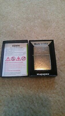 Zippo Windproof Street Chrome Lighter, #207, NIB