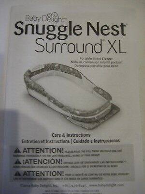 Baby Infant Portable Bed Sleeper Snuggle Nest Surround XL, Gray~Music & Light
