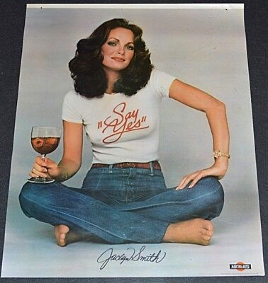 "SEXY JACLYN SMITH MARTINI & ROSSI WINE 1974 ORIGINAL 17""x22"" PROMOTIONAL POSTER!"