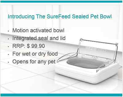 Surefeed Motion Activate Sealed Pet Food Bowl 4 Cats and Dogs, Keep Food Fresher