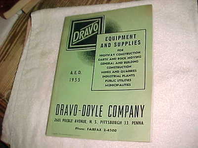 1955 DRAVO CATALOG - FARM Cleveland EQPT - INDUSTRIAL - HEAVY EQPT - HIGHWAY