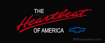 Chevy Heartbeat of America COLORED Vinyl Decal Sticker CHEVROLET