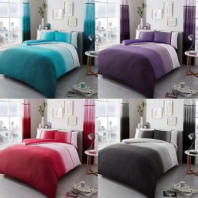 Urban Ombre Pattern Modern Stylish Luxury Duvet Covers Reversible Bedding Sets