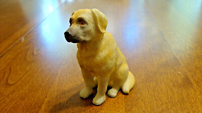 Resin Yellow Labrador Retriever Angel Christmas Tree Ornament -