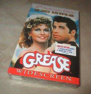 grease vhs brand new factory sealed tape cad picclick ca. Black Bedroom Furniture Sets. Home Design Ideas
