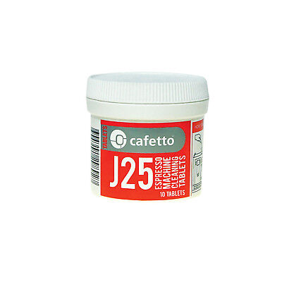 NEW Cafetto J25 Cleaning Tablets for Jura and Krups Super Auto 10 Tablet Packet