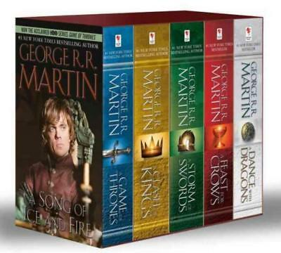 GAME OF THRONES by George RR Martin MASS MARKET PAPERBACK BOXED SET Books 1-5