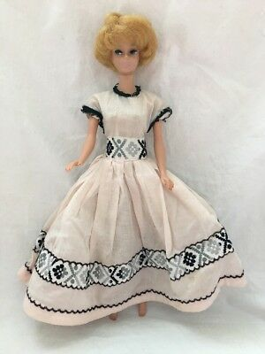 Vintage Barbie Doll Clone Mommy Made ? Pale Pink Dress Gown