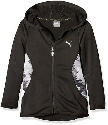 (17 years, Puma Black) - Puma – Children's Active AOP Hooded Jacket G,