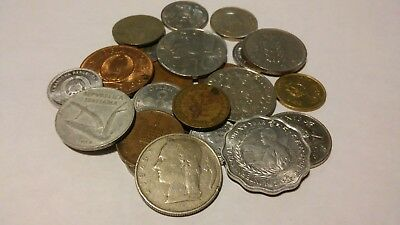 Old Foreign Coins--Lot of 24--Nice Mix of Large & Small Coins--FAST SHIPPING!!!