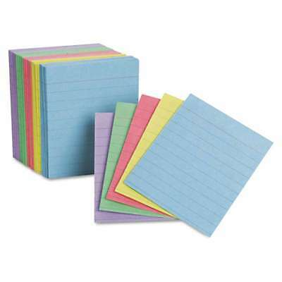 Oxford Ruled Mini Index Cards, 3 x 2 1/2, Assorted, 200/Pack 078787100107