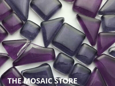 Mixed Purple Irregular Crystal Glass Mosaic Tiles Craft & Art