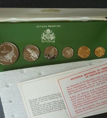 1977 GUYANA 6-coin PROOF set......