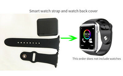 A1 smart watch strap and back cover to buy a set of strap gift back cover-black