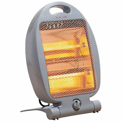 Electric Halogen Quartz Free Standing Instant Heater Small Portable Home Office