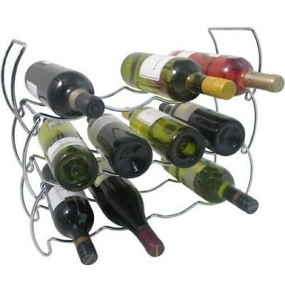 3 Tier Stackable Chrome Wine Storage Display Rack Holder Up To 12 Bottles. Kimco