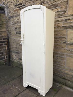 An Antique Shabby Chic Single Wardrobe