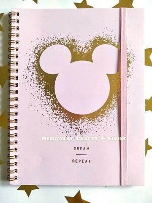 "NEW! ""Typo"" DISNEY Licensed A5 Campus Spiral Notebook Minnie Mickey Dream Repeat"