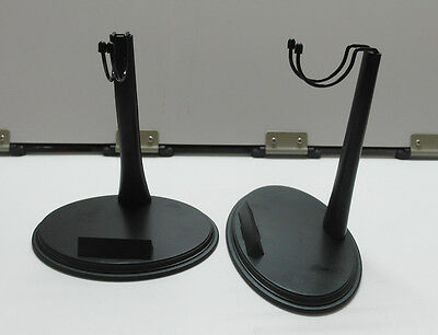 2X 1/6 Scale Figure Stands With Name Tag For Hot Toys Narrow Shoulder Body