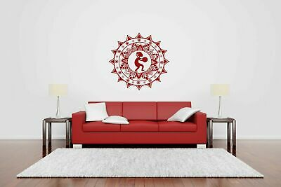 Wall Vinyl Sticker Decal Mural Design Art  Mandala Ornament Yoga bo409