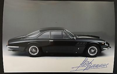 Autografo Photo Signed Designer Pininfarina Aldo Brovarone Ferrari 500 Superfast