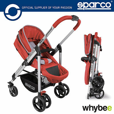 New! 00928 Sparco URBAN Carrycot Stroller Pram Pushchair Multi-Function 0-4 Yrs