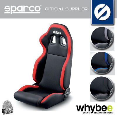 SPARCO R100 SPORTS ROAD SEAT RECLINING with HARNESS SLOTS AND BOTTOM FIXING