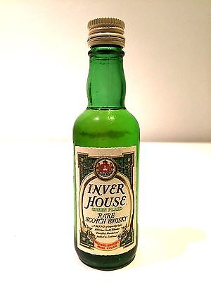 Inver House Green Plaid Scotch Whisky circa 1975 Miniature