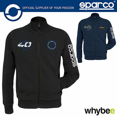 New! 01228 Sparco Full Zip Jumper Jacket 40 Years 1977-2017 Limited Edition