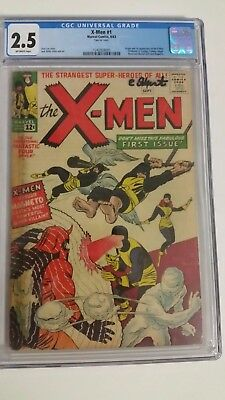 X-Men #1 CGC 2.5 Marvel KEY comic (1963) HOLY GRAIL first issue