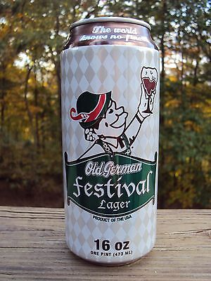 PITTSBURGH BREWING CO. OLD GERMAN FESTIVAL LAGER 16 oz. beer can/ IRON CITY BEER