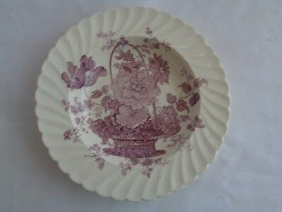 Royal Staffordshire Clarice Cliff Charlotte Purple Rimmed Soup Bowl