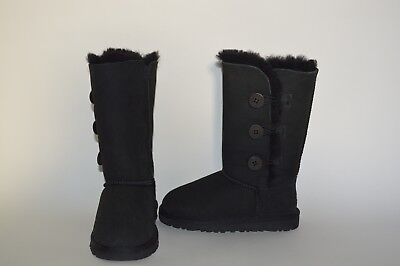 6a46681c4 where to buy ugg australia youth girls bailey button triplet boots sz 13  black suede new
