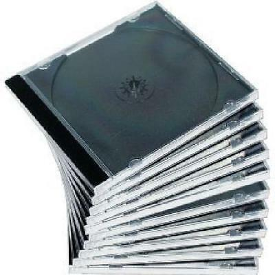 10Pack Jewel Case CD Clear Double Blu-Ray High Quality Plastic Safe Packaging