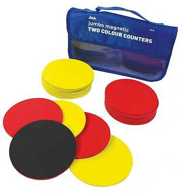 Counters 100mm Two Colour Magnetic (20p) Large Maths Games Teacher Resources