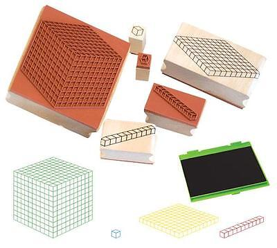 MAB Base Ten Stamp 4p + Stamp Pad Teacher Resource Maths Numeracy Kids Learning