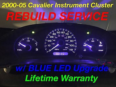 Repair Service 2000 05 Gm Chevy Cavalier Instrument Gauge Cer Blue Led