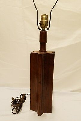 Antique Primitive Wood Gear Industrial 19th Century  Yarn Winder Table Lamp
