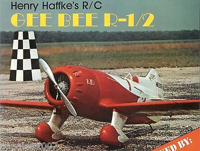 """Model Airplane Plans (RC): GEE BEE R-1/2 1/6 Scale 56""""ws for .60 by Henry Haffke"""