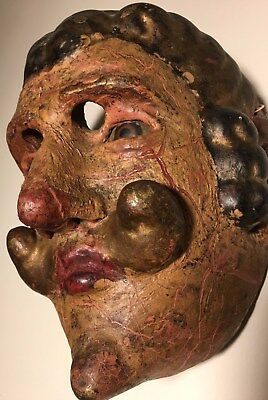 Antique, 19th Century Ethnographic, Wooden Mask Guatemala (Guatemalan)