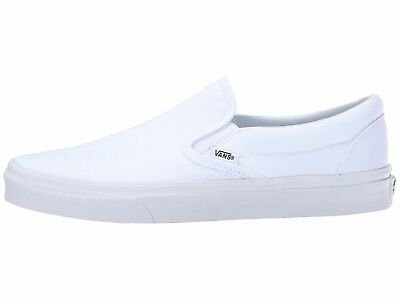 Men's Vans Classic Slip-on True White Fashion Sneakers Canvas All Sizes NEW